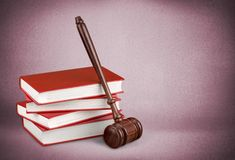 Law Book. Legislation Legal System Gavel Justice Courthouse Mallet Stock Photo
