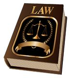 Law Book with Seal Royalty Free Stock Photos