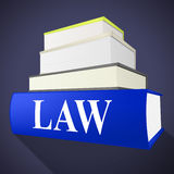 Law Book Shows Legality Lawyer And Court Royalty Free Stock Photography