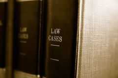 Law books. Closeup of law books on a shelf Royalty Free Stock Photo