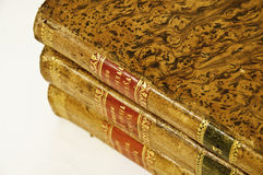 Law books. This image shows three law books, old Royalty Free Stock Photography
