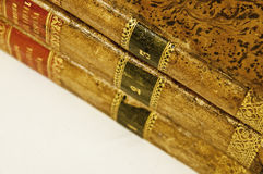 Law books. This image shows three law books, old Royalty Free Stock Photo