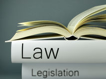 Law and legislation - Books Stock Image