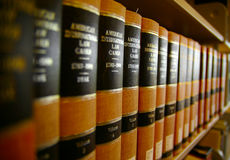 Law books. On a shelf - legal work Royalty Free Stock Photos