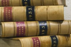 Law Books. Old law reports from the 1930s Royalty Free Stock Photo