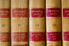 Law Books. A set of old New Hampshire law books on a shelf Stock Images
