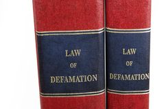 Law books Royalty Free Stock Images