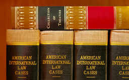 Law books. Stacked on a shelf Royalty Free Stock Photo