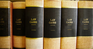 Law books. In a row, on a shelf Royalty Free Stock Images