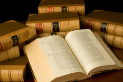 Law Books. A collection of old legal case reports Stock Photo