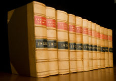 Law Books. A row of old law reports Royalty Free Stock Images