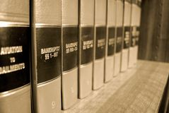 Law Books on Bankrupcty Stock Photography