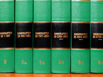 Law Books on Bankruptcy Stock Photography