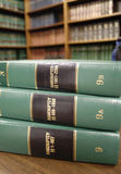 Law Books on Bankruptcy Royalty Free Stock Images