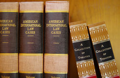 Law books in a row Stock Photos