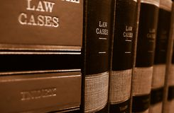 Law books on a shelf Stock Photos