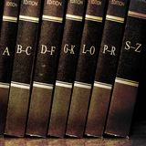 Law Books on Shelf. Row of old leather law books on a shelf Stock Images