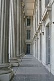 Law Building Stone Columns. At a Court place Royalty Free Stock Photo