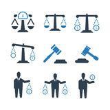 Law Business Icon - Blue Version royalty free illustration