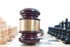 Law chess concept Stock Images