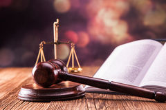 Law code and gavel. Law code, gavel and books Royalty Free Stock Images