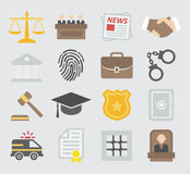 Law colorful icons Stock Image