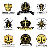 Law Company. Law office logo collection. The judge, Law firm logo template, lawyer set of vintage labels. full vector logo and easy to edit able Royalty Free Stock Photo