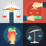 Law Composition Set royalty free illustration