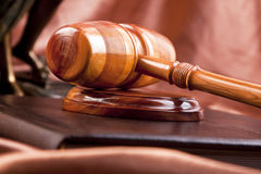 Law concept. Gavel of law in studio Stock Image