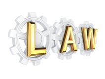 LAW concept. Stock Photo