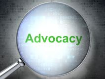 Free Law Concept: Advocacy With Optical Glass Royalty Free Stock Photos - 119798748