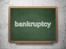Law concept: Bankruptcy on chalkboard background Royalty Free Stock Image