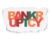 Law concept: Bankruptcy on Torn Paper background. Law concept: Painted multicolor text Bankruptcy on Torn Paper background Royalty Free Stock Photo