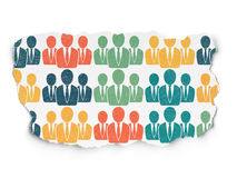 Law concept: Business People icons on Torn Paper Stock Photo