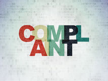Law concept: Complaint on digital background Stock Photo