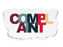 Law concept: Complaint on Torn Paper background Royalty Free Stock Image