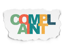 Law concept: Complaint on Torn Paper background Royalty Free Stock Photo