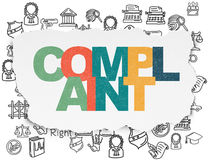 Law concept: Complaint on Torn Paper background Royalty Free Stock Photos