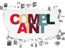 Law concept: Complaint on Torn Paper background Stock Images