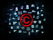 Law concept: Copyright on Digital background Stock Image