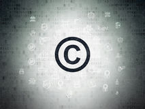 Law concept: Copyright on Digital Paper background Royalty Free Stock Image