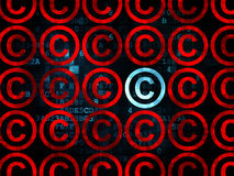 Law concept: copyright icon on Digital background Stock Photo