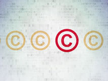 Law concept: copyright icon on Digital Paper Stock Photo