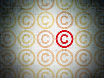 Law concept: copyright icon on Digital Paper Stock Photos