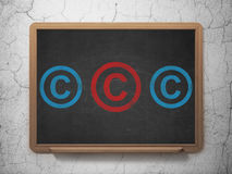 Law concept: copyright icon on School Board Royalty Free Stock Image