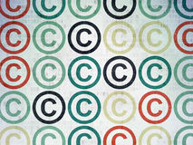 Law concept: Copyright icons on Digital Paper Stock Image