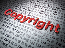 Law concept: Copyright on Law background Royalty Free Stock Photos