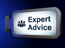Law concept: Expert Advice and Business People on billboard background. Law concept: Expert Advice and Business People on advertising billboard background, 3D Royalty Free Stock Photography