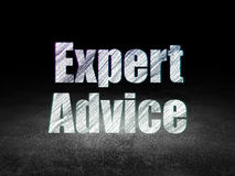 Law concept: Expert Advice in grunge dark room Stock Image