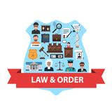 Law Concept Flat Royalty Free Stock Photos